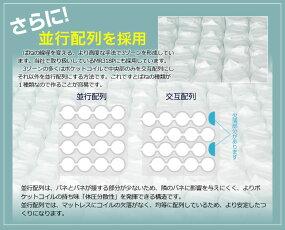 ポケットonポケットマットレスダブルEN355PP3ゾーン構造コンパクト梱包