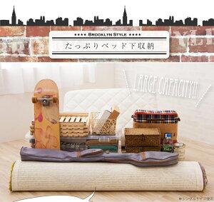 セミダブルベッドフレームベッドフレーム単品フレームのみスチールパイプパイプベッドブルックリン男前スチール製()【送料無料】【smtb-f】