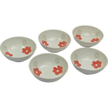 フローラル サラダボウル5個組 フローラル 洋陶器 洋陶鉢 サラダセット MC1425‐9(代引不可)