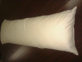 ●カバー付き国産オリジナル大判羽根ロング枕抱き枕カバー付き水鳥フェザー100%50x100cm別注OK!!介護寝たきりに