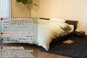 ベッド【組立設置無料】【送料無料】レノン[ブラウン](クイーンベッド)【マットレス別売り】木製ベッド/木製/ベッド【smtb-kb】