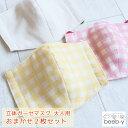 立体マスク 布マスク 日本製 2枚セット 大人 ダブルガーゼ生地 綿100% ガーゼマスク 日本製 メール便 送料無料