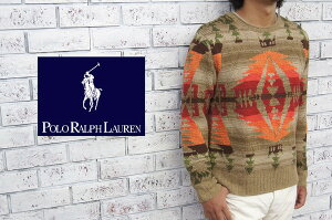 【POLO by Ralph Lauren】ラルフローレン ネイティブ柄 HAND KNIT セーター