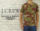 J.CREW ジェイクルー WALLACE&BARNES カモ柄 ヘンリーネック Tシャツ