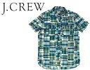 J.CREW ジェイクルー パッチワーク チェック S/S シャツ 1