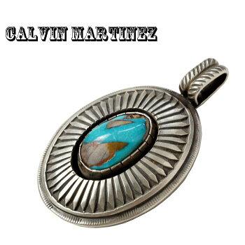 INDIANJEWELRYCalvinMartinezカルヴィンマルチネスROYSTONターコイズシルバーペンダントヘッド