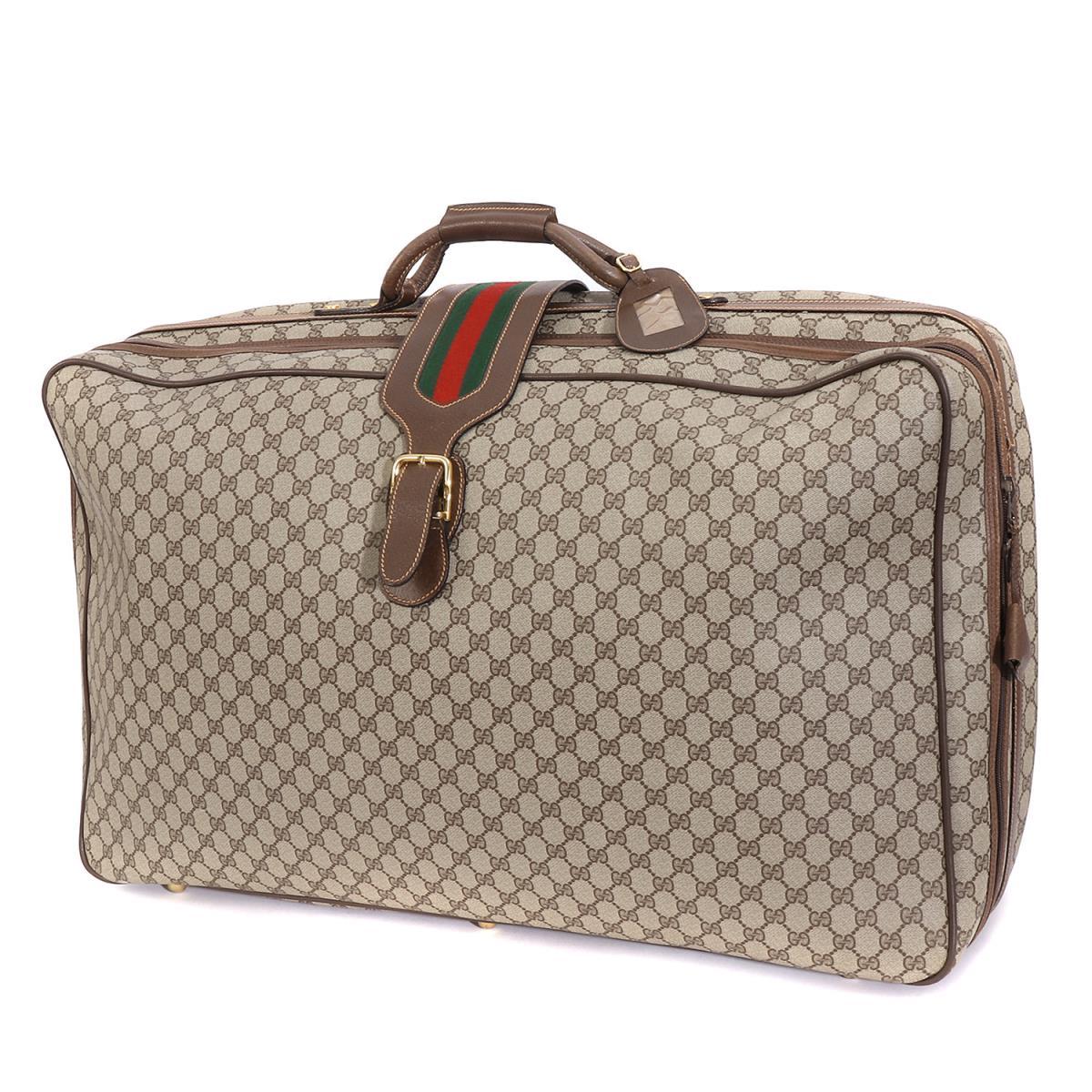 6b85db7a2a89 ... GUCCI (グッチ) シェリーライン GGモノグラムトラベルバッグ | / スーツケース | / トランクケース(オールドグッチ) ベージュ  | メンズ | K2165 | ☆対応可