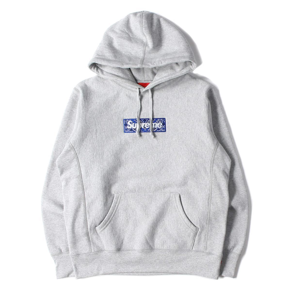 トップス, パーカー Supreme 19AW BOX Bandana Box Logo Hooded Sweatshirt S K2806