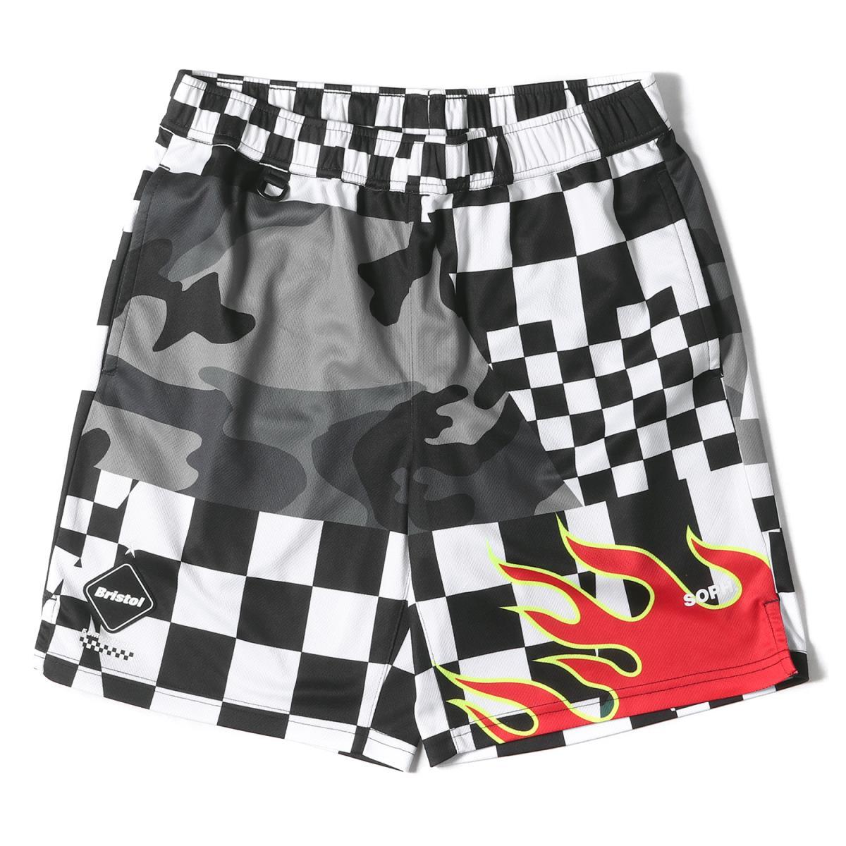 メンズファッション, ズボン・パンツ FCRB MULTI PATTERN SHORTS 19SS S K2691