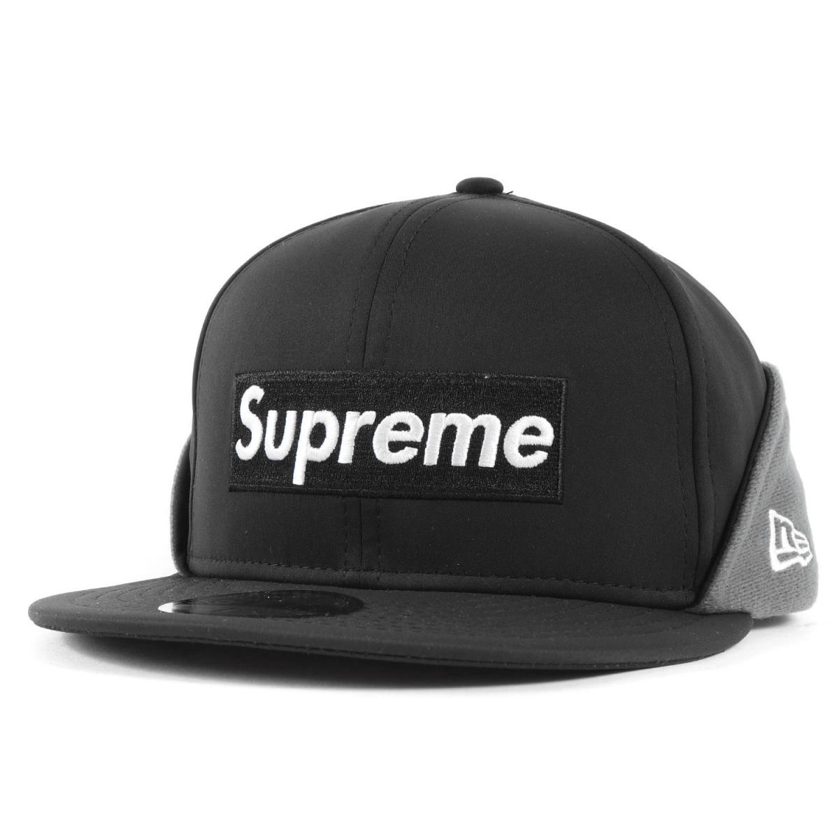 メンズ帽子, キャップ Supreme 20AW NEW ERA WINDSTOPPER BOX Earflap Box Logo 7 12(59.6cm) K3106