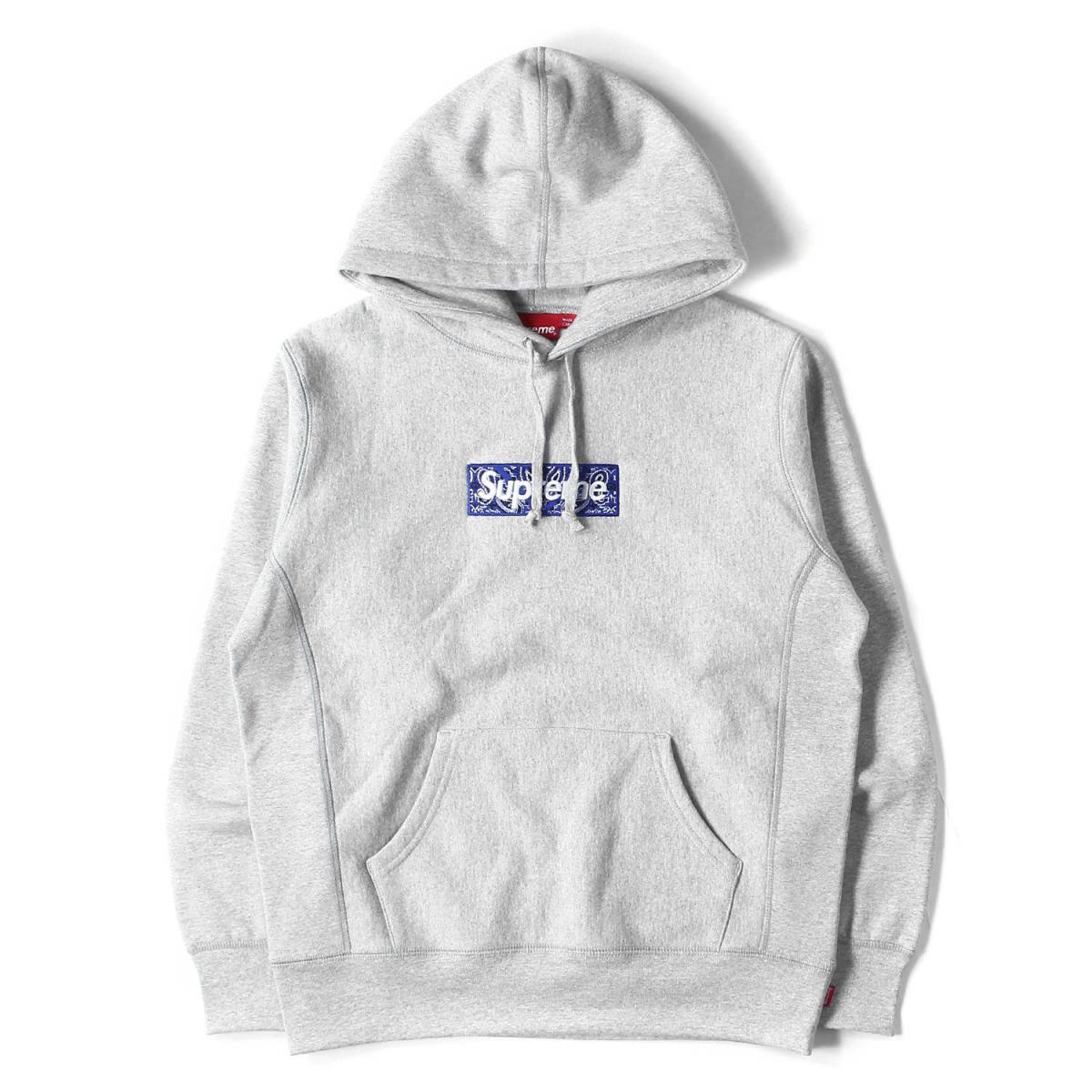 トップス, パーカー Supreme BOX Bandana Box Logo Hooded Sweatshirt 19AW L K2954