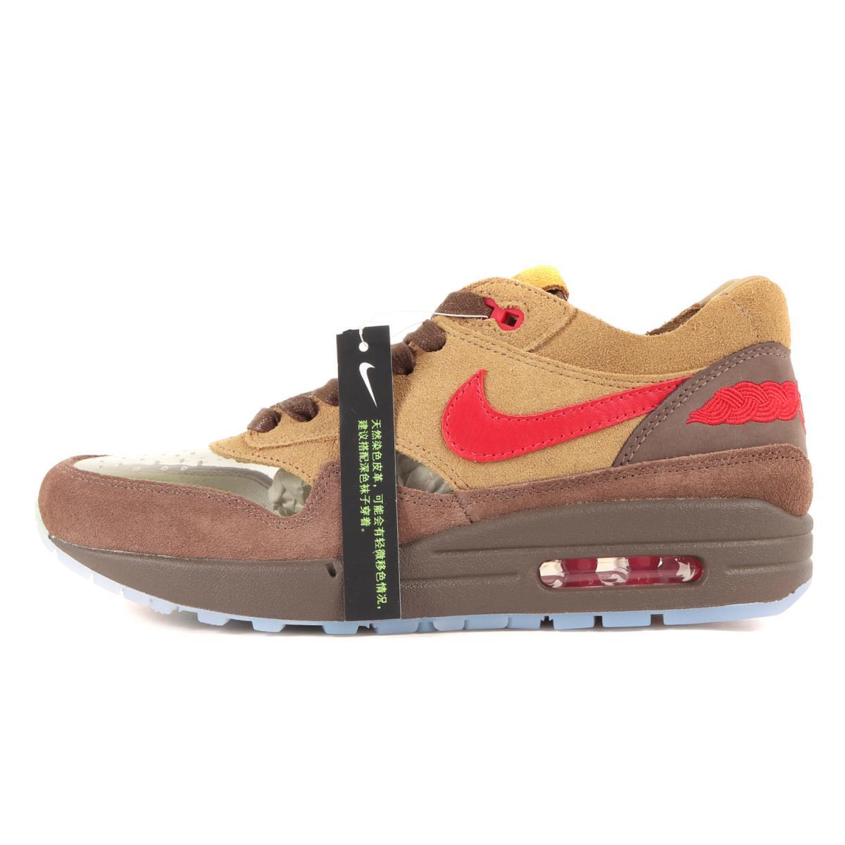 メンズ靴, スニーカー NIKE CLOT AIR MAX 1 KISS OF DEATH CHA DD1870-200 21SS US6.5(24.5cm) K3099
