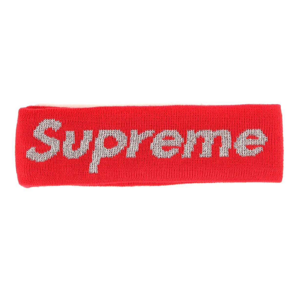 メンズ帽子, その他 Supreme NEW ERA New Era Reflective Logo Headband 17AW K3127