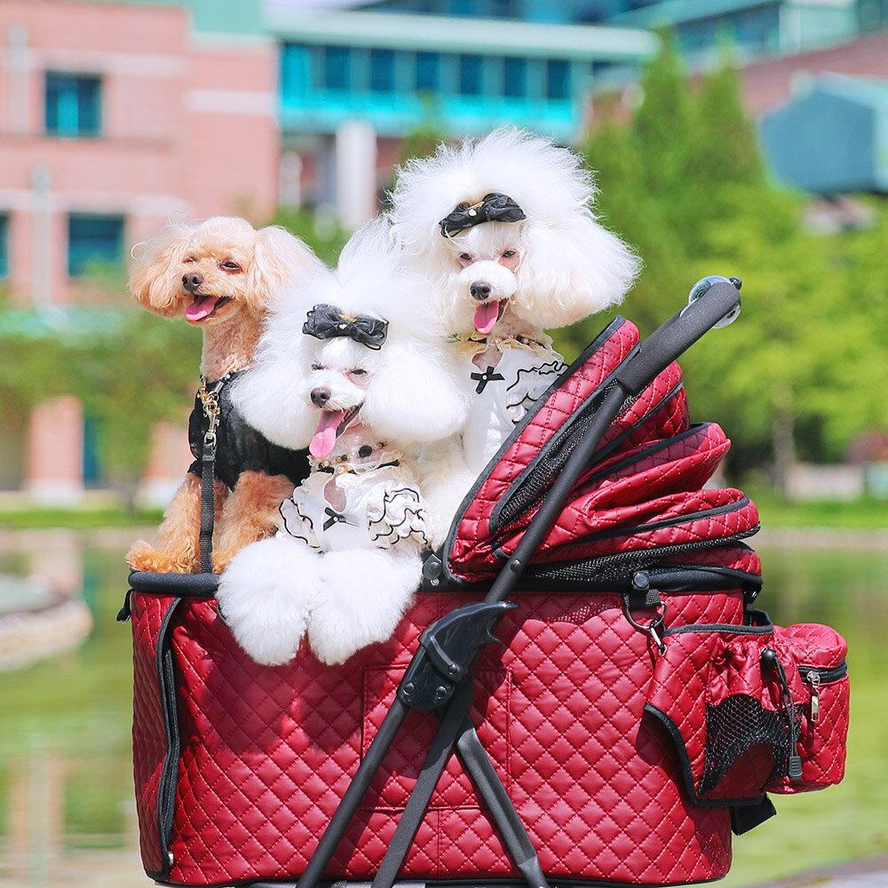ポイント10倍!(〜6/6)【Sサイズ】天使のカートマットキルトver.4フレームセット送料無料耐荷重15kgペットカート犬カート多頭2way3way折りたたみ対面中型犬小型犬犬猫ペット対面かわいい天使のカート