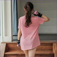 ヨガウェア おしゃれ トップス レディース ロング半袖Tシャツ ヨガ ピラティス バレエ ジム フィットネス スリット 送料無料