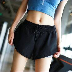 スポーツパンツ ショートパンツ 体型カバー 重ね2枚仕立て おしゃれ ヨガ ホットヨガ  ジム フィットネス トレーニング 可愛い   送料無料