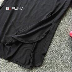 ヨガウェア おしゃれ トップス ロングTシャツ レディース ヨガ ホットヨガ ピラティス ジム フィットネス スリット入り  吸汗 速乾 伸縮性 軽量 送料無料