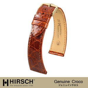 <Hirsch> Genuine Croco / Panerai / Luminor / Marina / Submersible / Radiomir / Oro Rosso / Black Seal / 1940/1950 / Watch Leather Belt / Band / 18mm/19mm/20mm/21mm/22mm/24mm