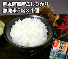 【九州産】【熊本県産】阿蘇産コシヒカリ特別栽培米・無洗米5kg1個【RCPsuper1206】【0603superP2】