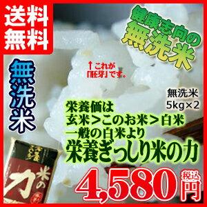 九州産 米 一般白米より栄養ぎっしり「米の力」 5kg×2個セット無洗米 5kg 送料無料 5キロ 送料込み【送料無料100215】