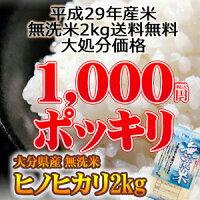 大分ヒノヒカリ無洗米4kg(2kg×2個)送料無料大分県産2000円ポッキリ