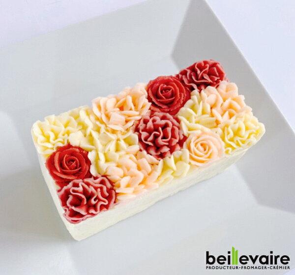 フラワーケーキ洋菓子バターケーキbeillevaire ガトーオブーケロゼハーフ バタークリームケーキ花ケーキお誕生日ケーキバー