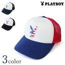 【プレイボーイプリントメッシュキャップDS417】【Y-0094】PLAYBOYCAP帽子 メンズレディースユニセックスカジュアル ロゴフェスストリート系 ラビットヘッド