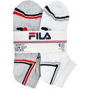 フィラ FILA メンズ 靴下 ローカット ソックス ショート アンクル スニーカーソックス レッグウェア ロゴ 6足セット
