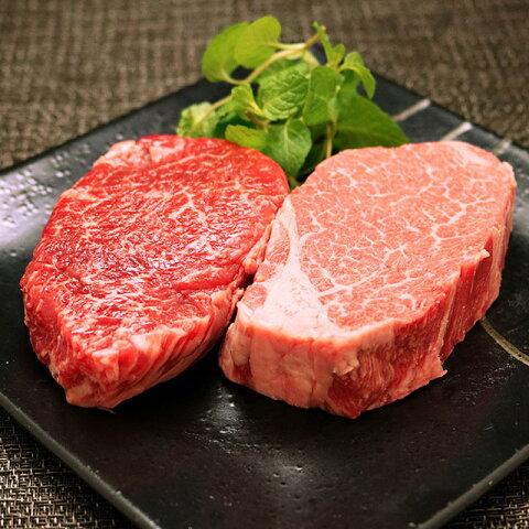 米沢牛 ギフト(A4・A5ランク)「ヒレ&ランプ」ステーキ食べ比べセット 【送料無料】黒毛和牛 国産和牛 プレゼント ギフト 祝い 牛肉 ブランド 肉 産地直送 肉贈