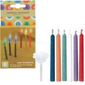 10%OFF誕生日キャンドルrainbowmoments(レインボーモーメント)6色6本入り