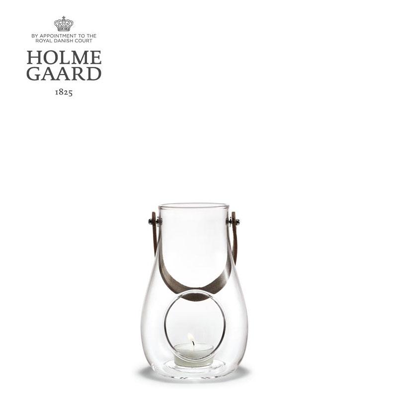 キャンドルスタンド ガラスホルムガード HOLMEGAARD DESIGN WITH LIGHT Lantern Clear (S) H16 デザイン ウィズ ライト ランタン クリアキャンドルホルダー 4343502 吹きガラスステンレス 蓋付き 野外 屋内 北欧雑貨 ローゼンダール