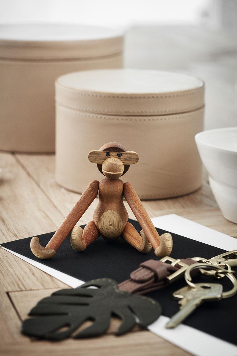 カイ・ボイスン デンマーク モンキー ミニ サイズ KAY BOJESEN DENMARK Monkey Mini 10.5cm 39249 チーク/リンバ 木製玩具ギフト 贈り物 プレゼント ラッピング