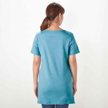 【Disney】ディズニーチュニックTシャツ「スティッチ(オフホワイト)」SMLLL3LレディースファッションレディースカットソーTシャツ