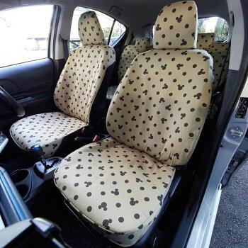 【Disney】ディズニーウレタンシート貼りの車種専用カーシートカバーセット「ブラック」N−BOX(スライドリヤシート)ハスラーアクアスペーシアタントCムーヴキャンバスワゴンR・Cミラ・イース