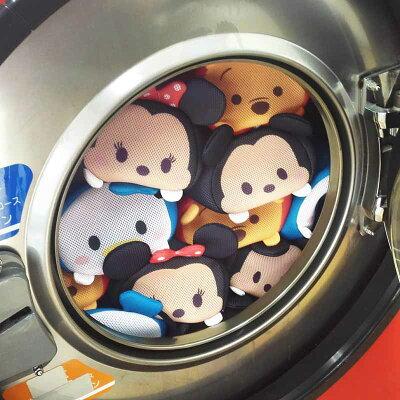 洗濯機の中にツムツムがむぎゅっ。ポーチにもなる洗濯ネットがかわいすぎる!!!!!