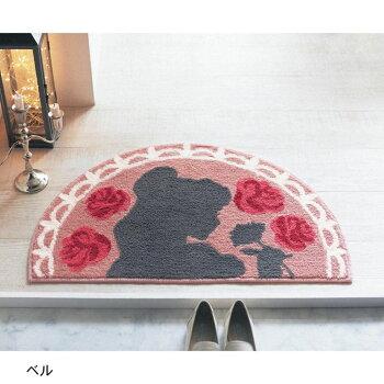 【Disney】ディズニー花言葉玄関マット「マリー」