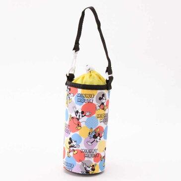 【Disney】ディズニー ボトルケース(ミッキー&ミニー) 「ブラック」 ◇ 水筒 ペットボトル 遠足 保冷 アウトドア キャンプ ピクニック ストラップ 付き ◇