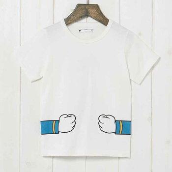 【Disney】ディズニーつながるプリントTシャツ(キッズ)「スティッチ(ネイビー)」