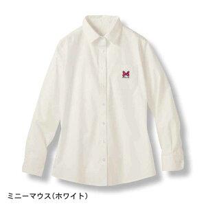44531afd86b96  Disney ディズニー ワンポイント刺繍ブラウス 「ミニーマウス(ホワイト)」 ◇