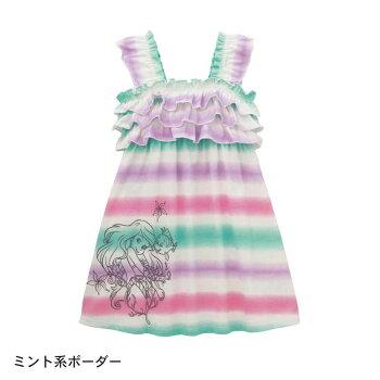 【Disney】ディズニーマーメイドフリルワンピース【子供服】「ブルー系」