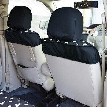 【Disney】ディズニーウレタンシート貼りの車種専用カーシートカバーセット「ネイビー」N−BOX(スライドリヤシート)ハスラーアクアスペーシアタントCムーヴキャンバスワゴンR・Cミラ・イース
