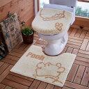 【Disney】 ディズニー トイレのニオイに特化したトイレマット・フタカバーセット[日本製]「くまのプーさん」 ◆ 標準マット&O・Uフタセット ◆ ◇ ベルメゾン トイレ 便所 お手洗い おしゃれ ◇