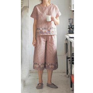 綿 100% ダブルガーゼ 半袖 パジャマ ◇ レディース 女性 パジャマ ルーム 部屋着 ルームウェア ファッション かわいい オシャレ ベルメゾン ◇