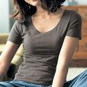 綿混 あったかインナー・クルーネック三分袖 レディース ◆ S M L LL 3L ◆ ◇ ベルメゾン 女性 下着 インナー 肌着 あったかインナー ◇