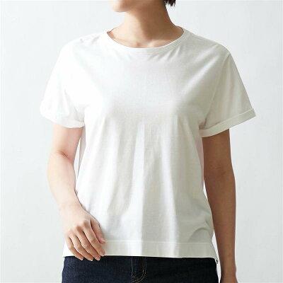 ベルメゾン 丸みを隠す大人仕立てTシャツ 「オフホワイト」