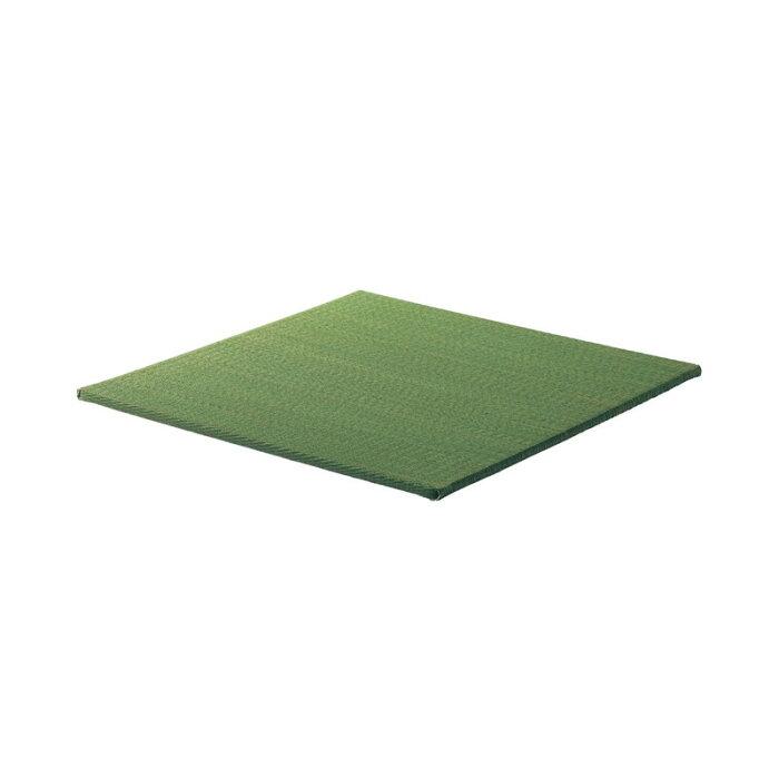 ベルメゾン すっきりデザインのずれにくい軽量置き畳[日本製] 「 グリーン 」◆9枚セット(サイズ)◆ ◇ ラグ カーペット 敷物 リビング おしゃれ かわいい デザイン 畳 たたみ い草 ゴザ 竹 BELLE MAISON DAYS ◇