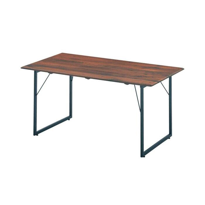 ベルメゾン 端整な佇まい。天然木とスチール脚のダイニングテーブル 「 ダークブラウン 」 ◇ 家具 収納 ダイニング テーブル セット 椅子 イス チェア ベンチ 食卓 BELLE MAISON DAYS ◇