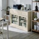 ベルメゾン 引戸キッチンカウンター 「 ホワイト 」 ◆ 110 ◆ ◇ 家具 収納 キッチン カウンター 下 上 ◇