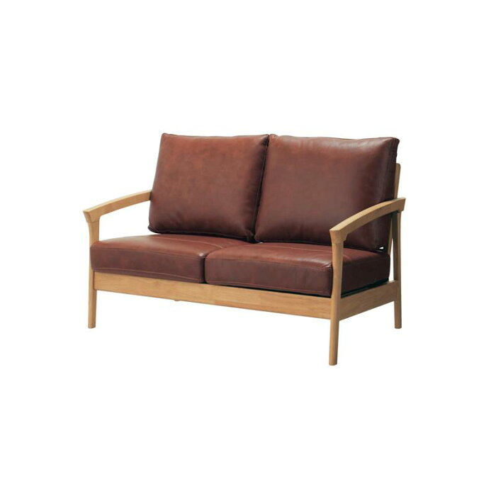 耐久性にこだわった本革クッションの木フレームソファー ◆ 2人掛け ◆ ◇ 家具 収納 ソファ 椅子 いす ◇