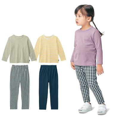 長袖 Tシャツ 3枚 & ロング パンツ 3枚セット 「 女の子セット 」 ◆ 80 90 100 110 120 130 ◆◇